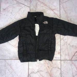 xxs(5) boys black north face winter jacket